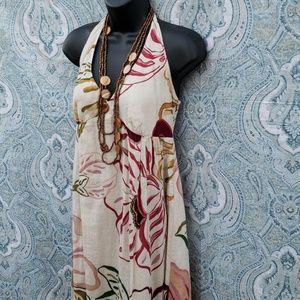 OLD NAVY LINEN HALTER MAXI DRESS  *549
